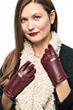 Nappa Leather Zipper Glove For Women, Touchscreen Cold Weather - Thinsulate Lined Gloves