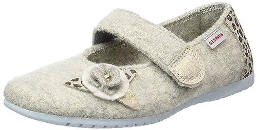 Giesswein St.Margarethen, Zapatillas de Estar por Casa para Niñas, Gris (Kiesel), 30 EU