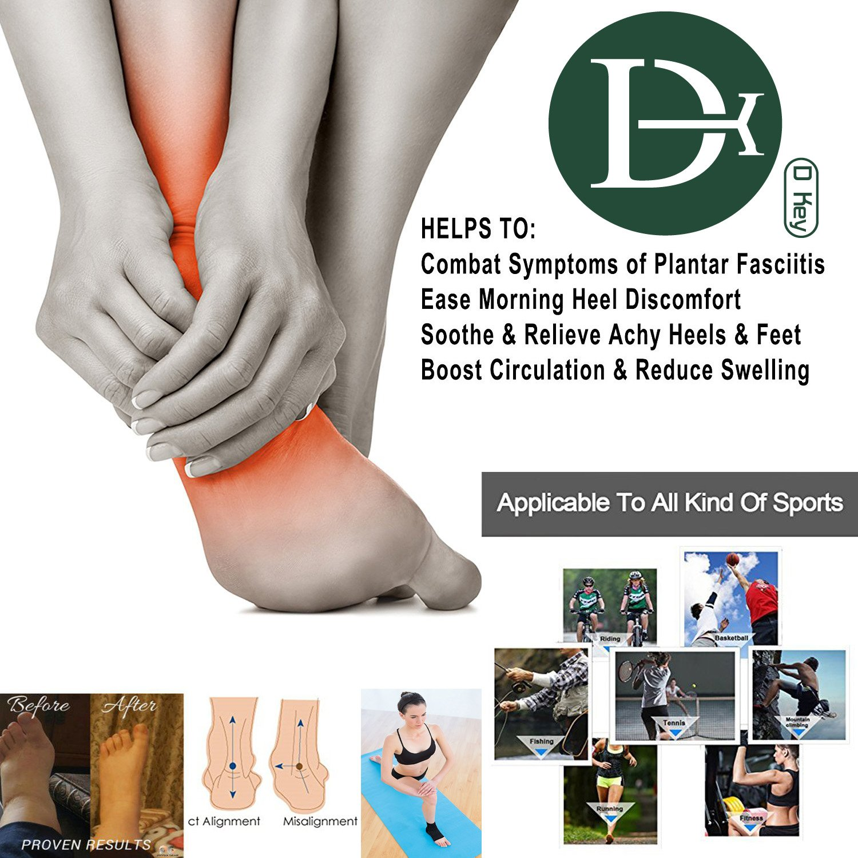 Best Plantar Fasciitis Sock for Heel/Ankle Pain Relief,Plantar Fasciitis Socks/Plantar Fasciitis Support/Plantar Fasciitis Brace with 20-30 mmHg Moderate Plantar Fasciitis Arch Support (Black)