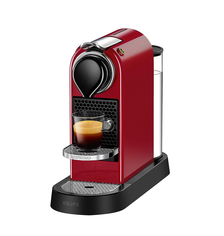 Nespresso Krups Citiz XN740B - Cafetera monodosis de cápsulas Nespresso, compacta, 19 bares, apagado automático, color titán