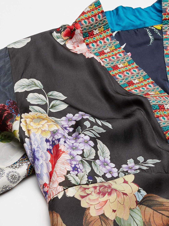 JOHNNY WAS Women's Velvet Printed Reversible Kimono Blouse Multi