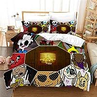 Fgolphd Roblox - Juego de ropa de cama infantil, impresión digital 3D, poliéster, en general para adultos y niños (1…