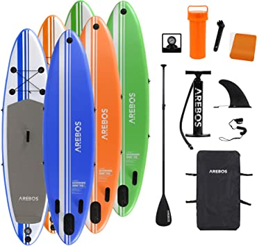 320cm SUP Board Stand Up Paddle Board Surfboard Paddle Double-Layer Surfbrett DE
