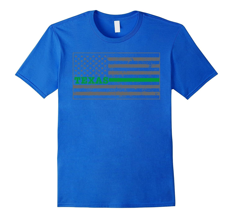 Texas Military Border Patrol Shirt Thin Green Line Shirt-Vaci