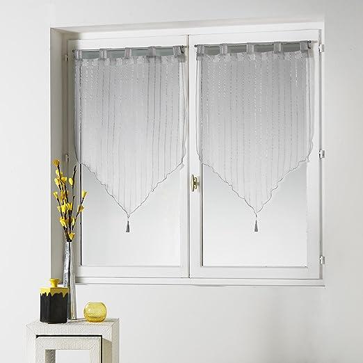 Douceur dInt/érieur Paire Pompon Voile Sable Lissea Polyester Gris 160 x 60 x 160 cm