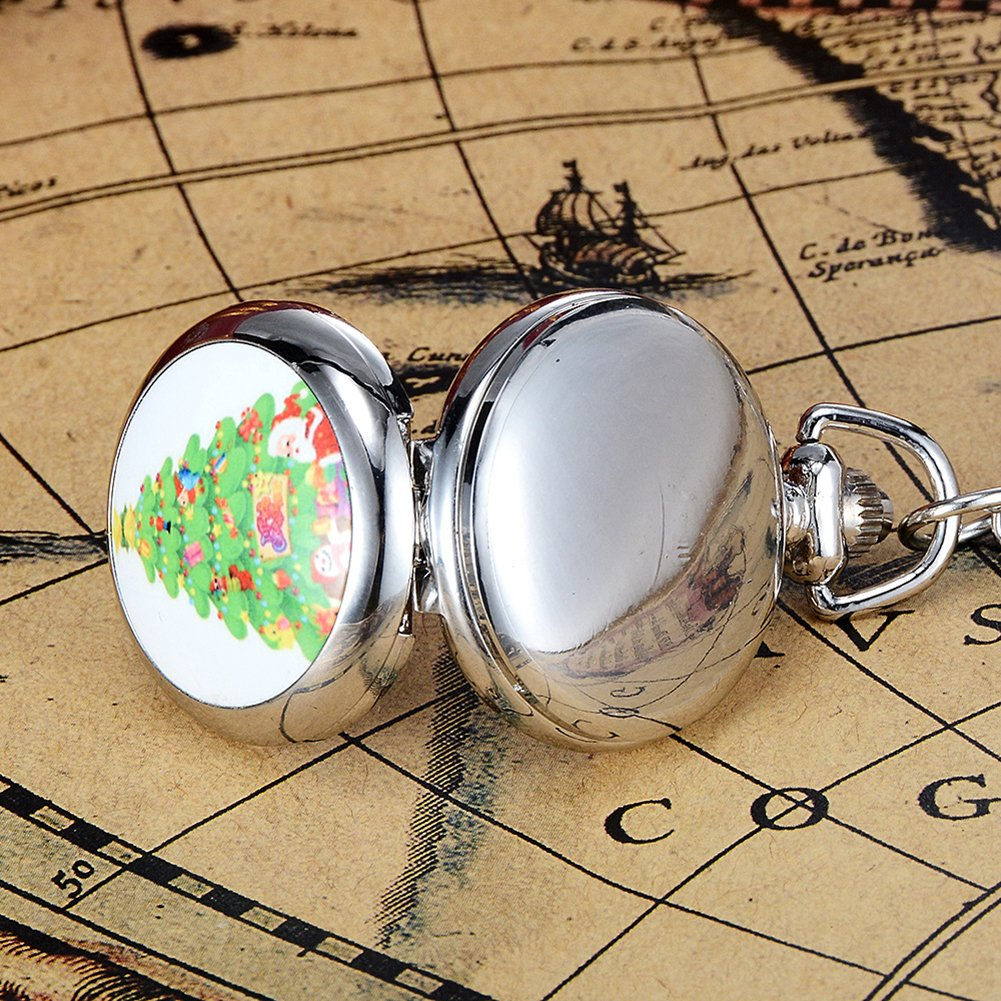 Snowman Christmas Tree Santa Claus Xmas Child Fancy Party Pocket Watch Gift by Gaweb (Image #7)