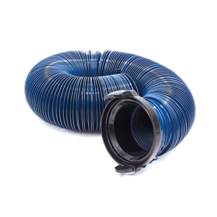 D04-0121 20 Blue Standard Bulk Quick Drain with Straight Hose Adapter Valterra Products Inc