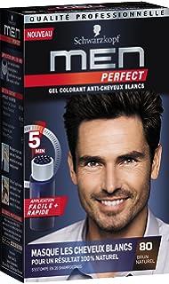schwarzkopf men perfect gel colorant anti cheveux blancs brun naturel 80 - Gel Colorant Cheveux