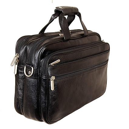 7636b7c59 Leather Villa   Leather Laptop Briefcase Bag for Men  15.6'' Laptop  Compartment