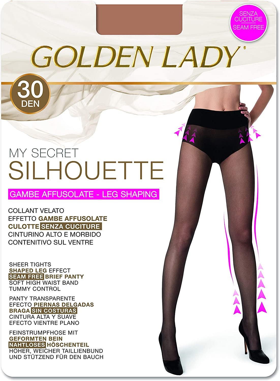 Goldenlady Damen Halterlose Str/ümpfe 30 DEN