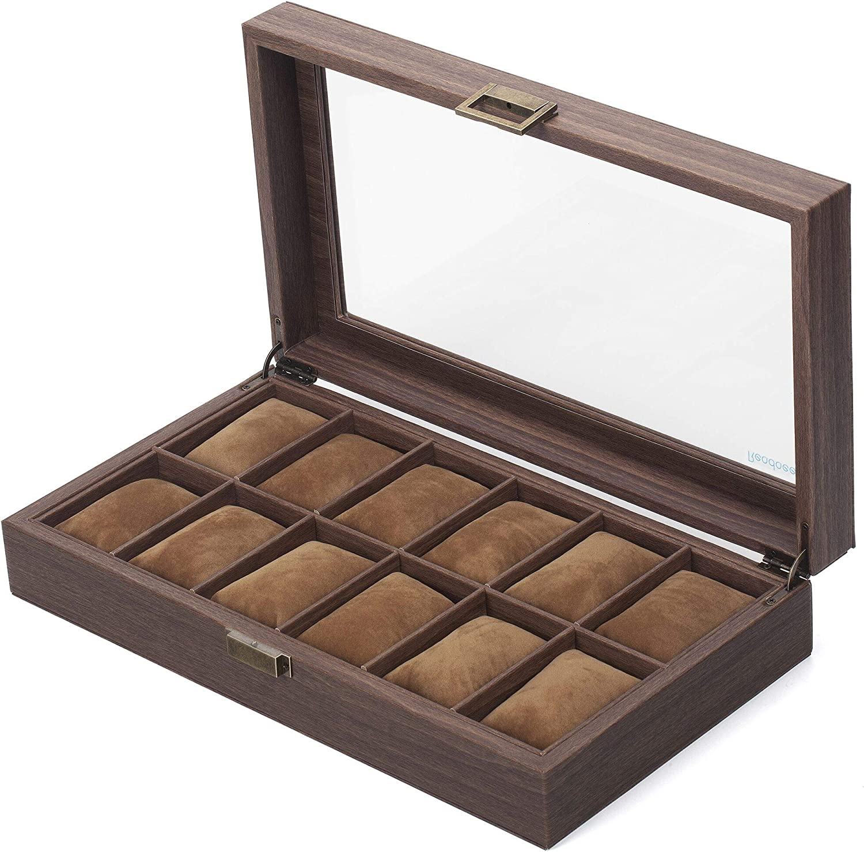 Readaeer Caja para Relojes con 12 Compartimentos