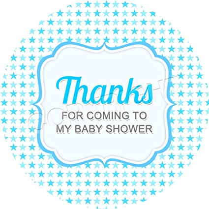 Baby Shower Blue V9 Sticker Labels for Party Bag Sweet Cones