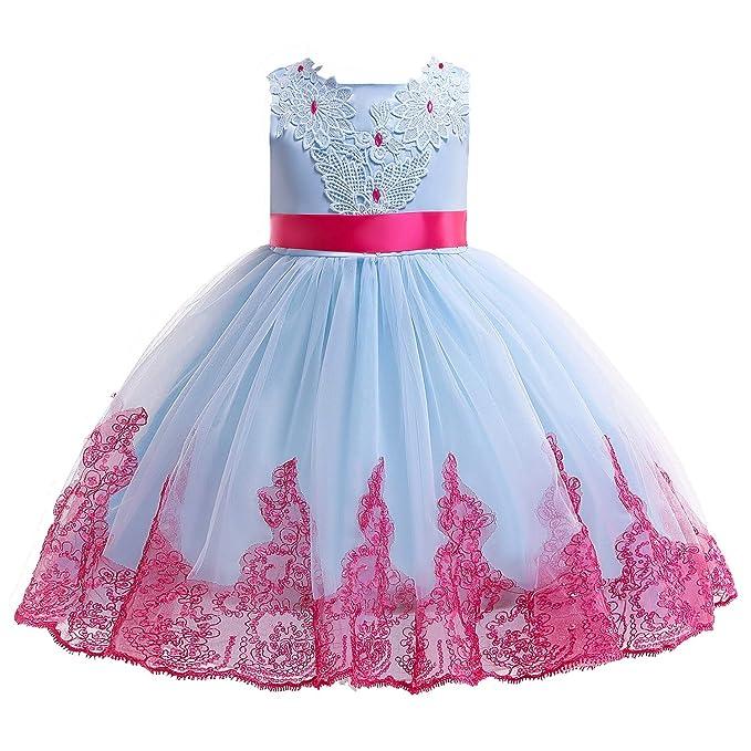 AIMJCHLD 2-10T Kids Flower Girl Dress Teen