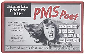 Magnetic Poetry - PMS Poet Kit - Words for Refrigerator - Write Poems and Letters on The Fridge - Made in The USA