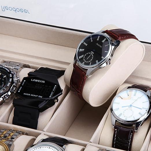 Amazon.com: Watch storage case wristwatch storage box Collection case for 12: Watches