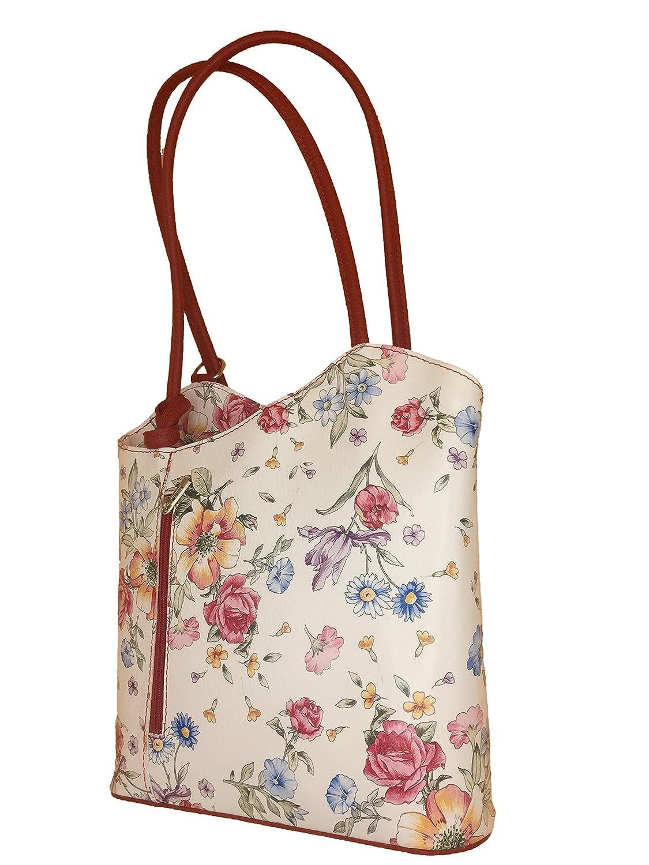 d3fbbff1ebf014 Borse in Pelle Women's Backpack Grey blumenmuster rot: Amazon.co.uk: Shoes  & Bags