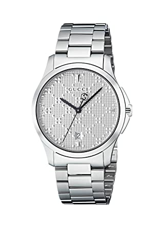 c4b47c45430 Amazon.com  Gucci G-Timeless Diamante Silver Dial Ladies Watch ...