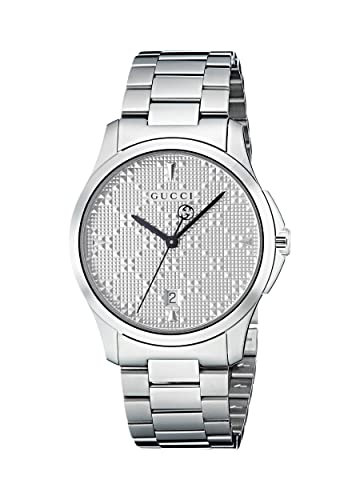 96cf77184c3 Gucci Mens Analogue Classic Quartz Watch with Stainless Steel Strap  YA1264024  Amazon.co.uk  Watches
