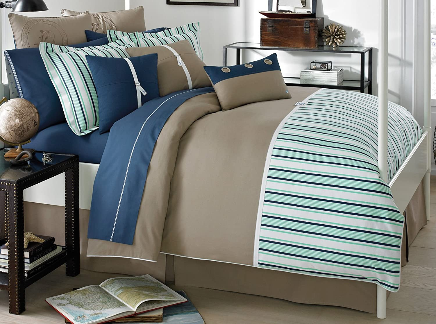 amazoncom southern tide channel marker comforter set twin green home u0026 kitchen