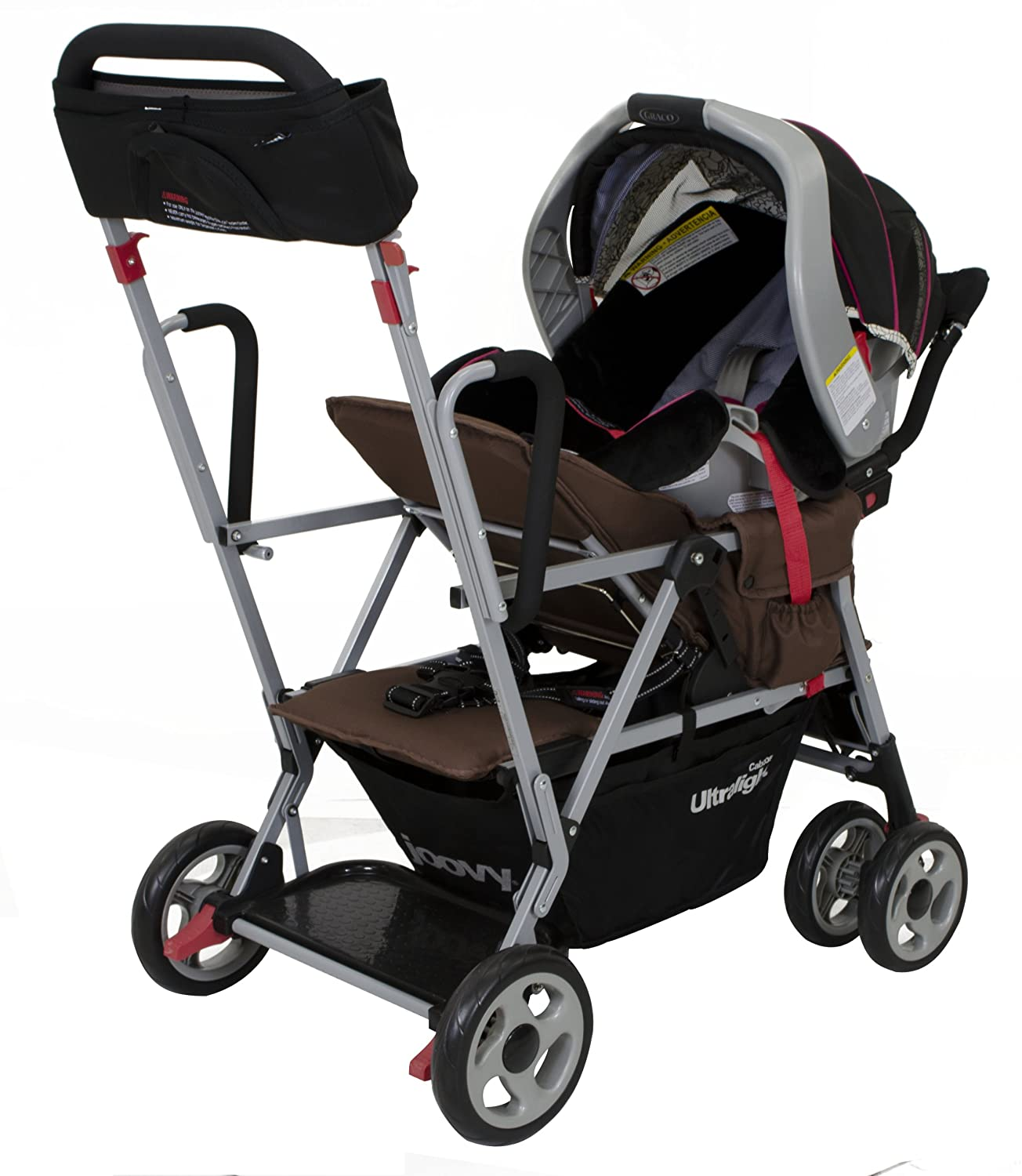 Amazon Joovy Caboose Ultralight Stroller Brownie Discontinued by Manufacturer Tandem Strollers Baby