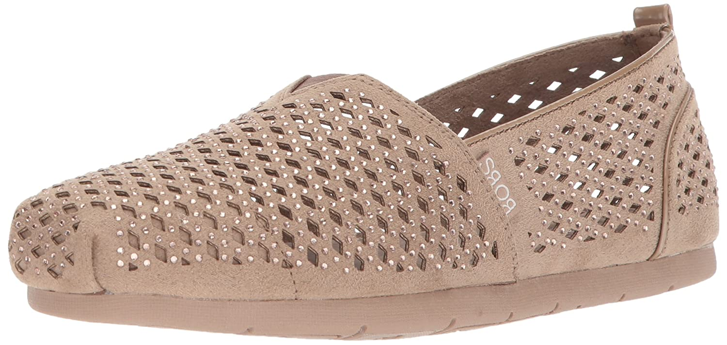 Skechers BOBS from Women's Luxe Bobs-Dazzlin Ballet Flat B0735X7L2F 8.5 B(M) US|Taupe