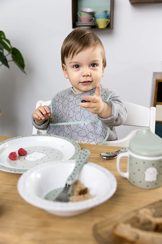 L/ÄSSIG Kinderbesteck Set 2-teilig L/öffel Gabel Edelstahl Kunststoffgriff//Cutlery Little Spookies
