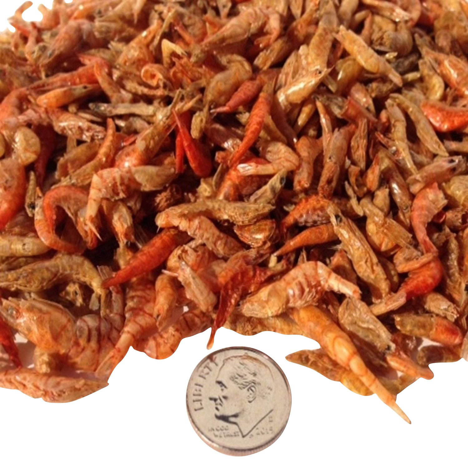 Aquatic Foods Inc. Freeze Dried Red Shrimp - 1/2'' to 1&1/4'' for All Tropical Fish, Koi, Turtles.10-lbs