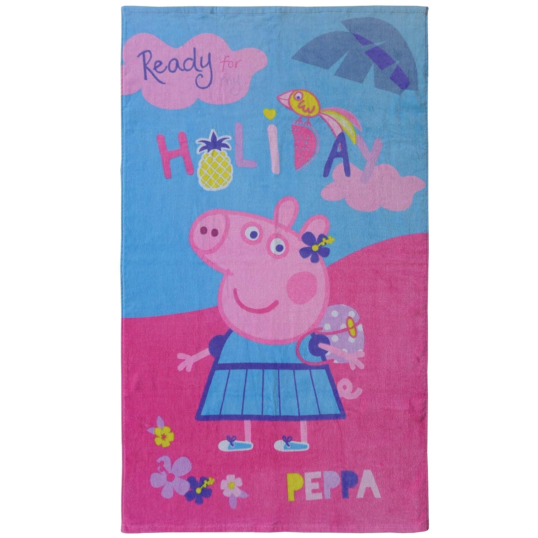 /Toalla de playa Peppa Pig Holiday algod/ón rosa 120/x 70/cm 320/g//m/² CTI 044215/