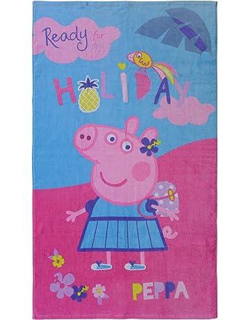 CTI 044215 – Toalla de playa Peppa Pig Holiday algodón rosa 120 x 70 cm 320