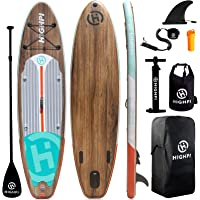 Highpi Inflatable Stand Up Paddle Board 11'x33''x6'' Premium SUP W Accessories & Backpack, Wide Stance, Surf Control…