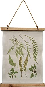 "NITYNP Fern Pattern Wall Scroll with Poster Vintage Plants Art Sign Fern Decor 11.33""x15.74""(Style 2)"