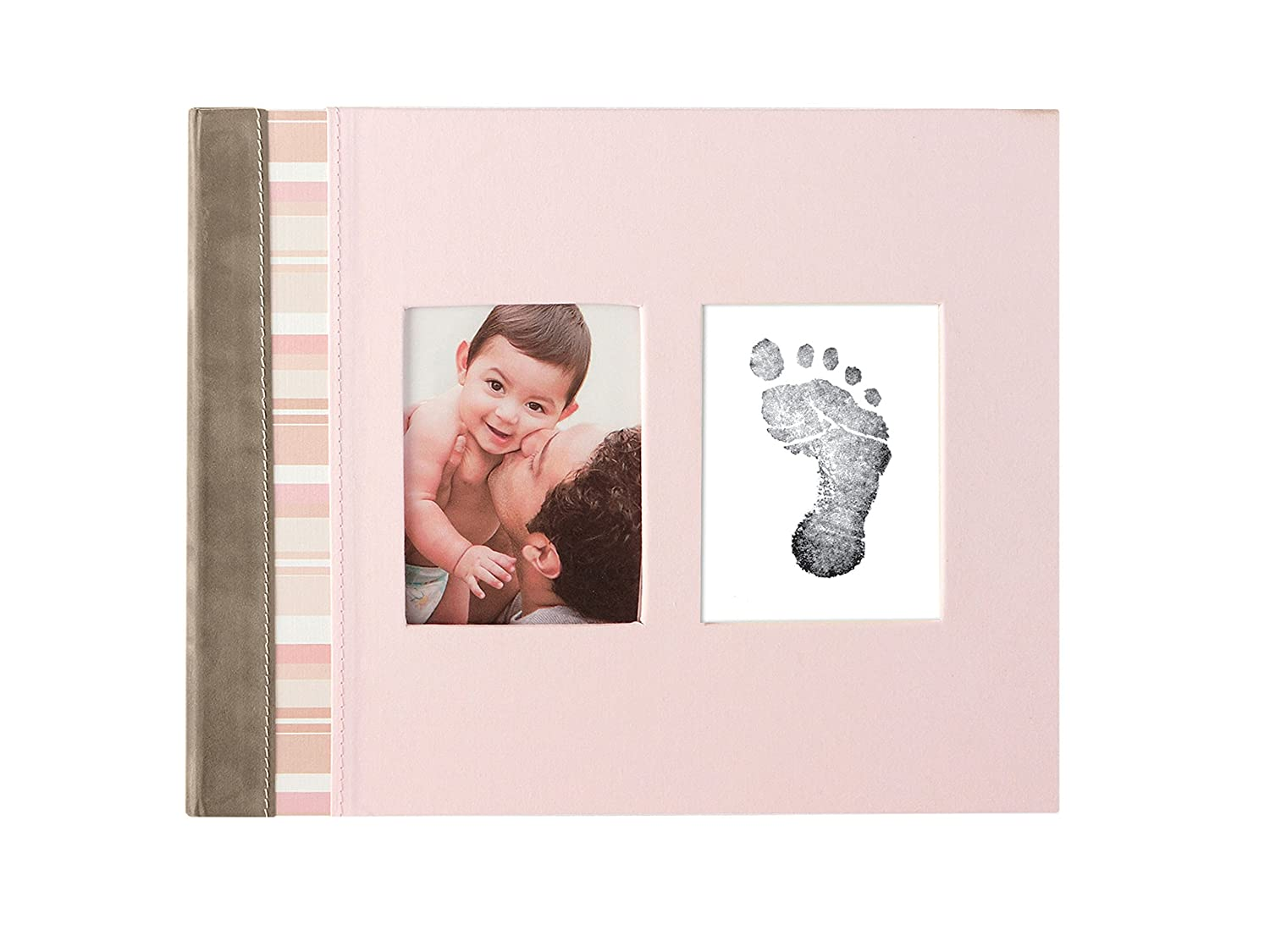 Pearhead Pink Suede Binding Baby Memory Book with Clean-Touch Ink Pad Included, Pink – A Perfect Baby Shower Gift