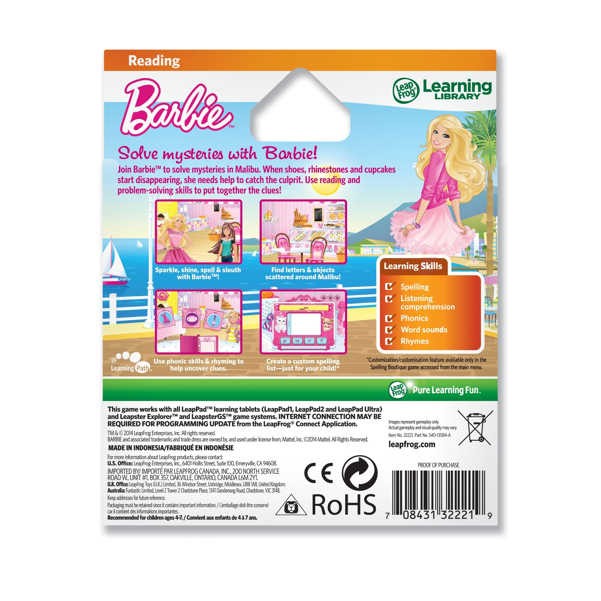 LeapFrog Learning Game: Barbie Malibu Mysteries (for LeapPad Tablets and LeapsterGS) by LeapFrog (Image #3)
