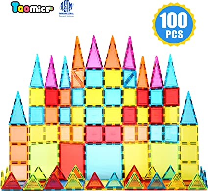 120 pcs set Magnetic Tiles Building Blocks Children Educational Construction Toy