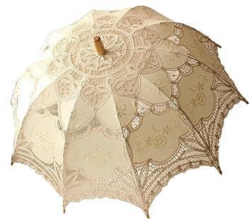 Boda paraguas de encaje sombrilla Victorian Lady accesorio de disfraz novia partido decoración Photo Props beige