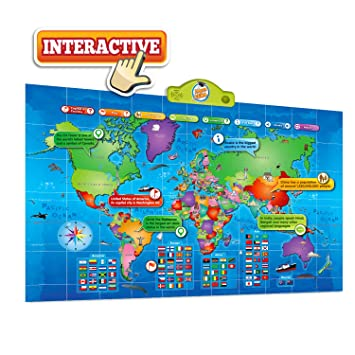 Amazoncom World Map Kids Interactive Map Of The World Touch - World interactive map