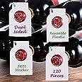 Reusable Wine Bottles Tag Racks Bottle Labels Hang Tags Cellar Storage Glass Markers Plastic Custom Label Fit Enthusiast Eras