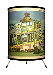 "Lamp-In-A-Box TRI-TRV-SCARO Travel - South Carolina Postcard Tripod Lamp, 8"" x 8"" x 14"""