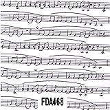 Decopatch Paper 468 - Musical Score (Black & White)