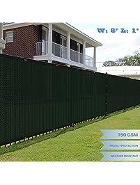 Eu0026K Sunrise Green Fence Privacy Screen, Commercial Outdoor Backyard Shade  Windscreen Mesh Fabric 3 Years