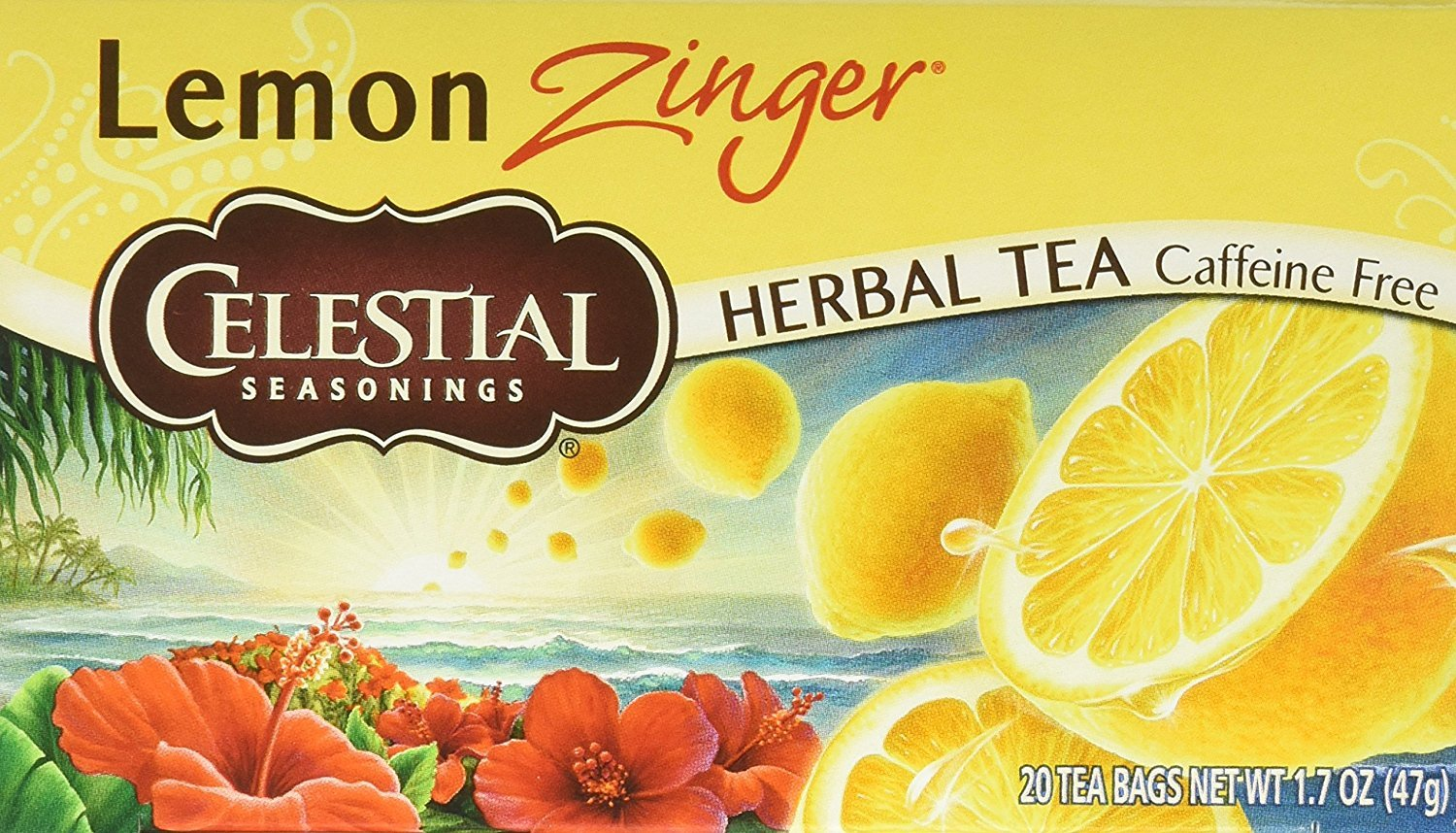 Celestial Seasonings Herbal Tea, Lemon Zinger, 20 Count (Pack of 6)