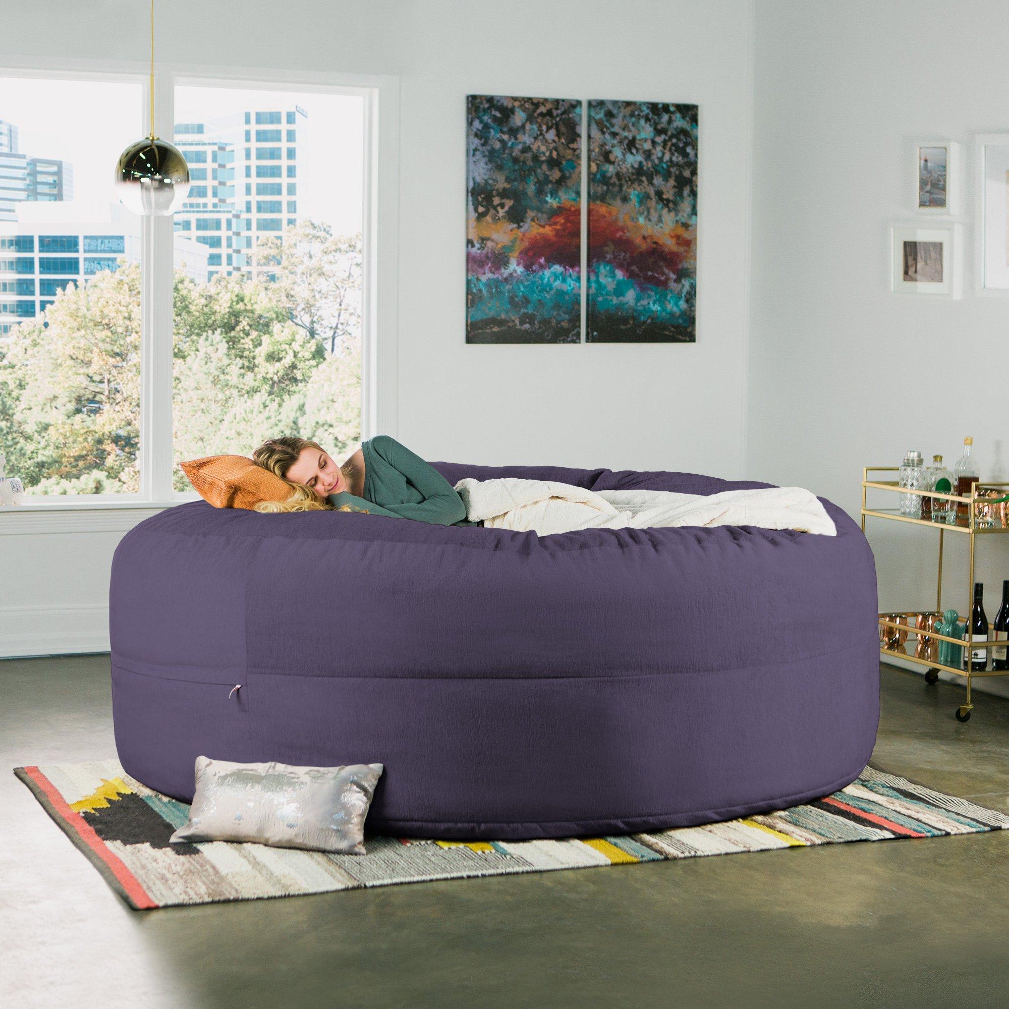 Jaxx Cocoon 8 Foot Huge Sleeper Bean Bag Bed - Chenille, Plum by Jaxx (Image #7)