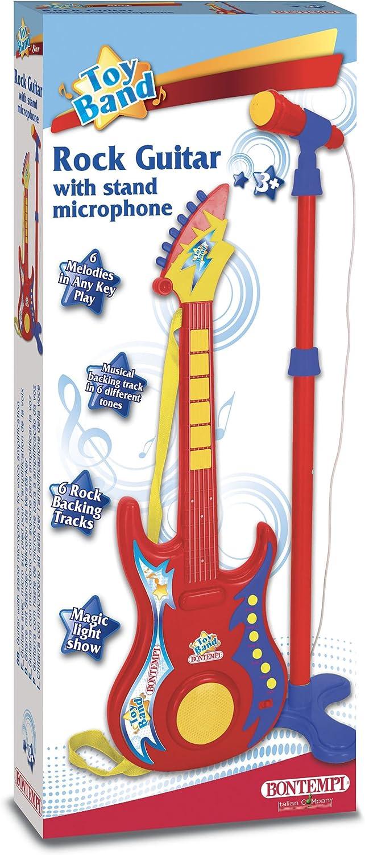 Bontempi® 247020 - Guitarra electrónica con micrófono: Amazon.es ...