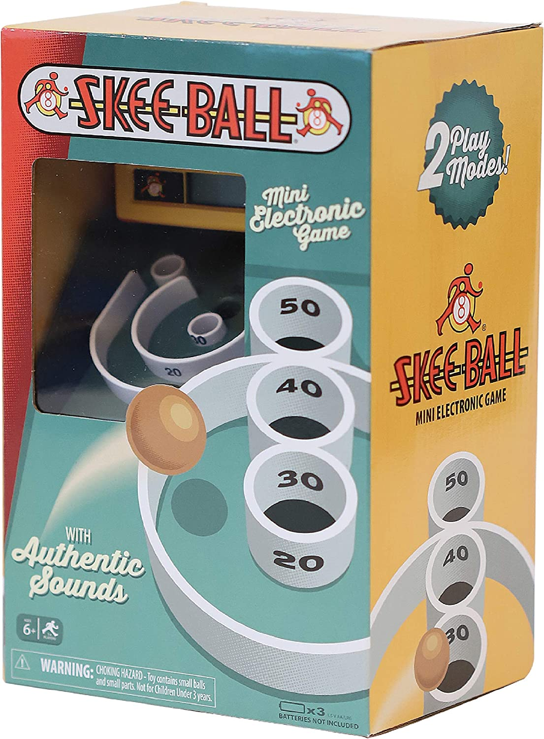 Skee Ball - Retro Handheld Mini Electronic Game with Authentic Sounds
