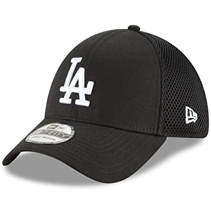 Amazon.com  New Era Authentic Los Angeles Dodgers Black Neo 39THIRTY ... 0fc6a3d78329