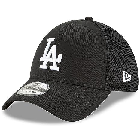 online store c69ae f41a8 New Era Authentic Los Angeles Dodgers Black Neo 39THIRTY Flex Hat (S M)
