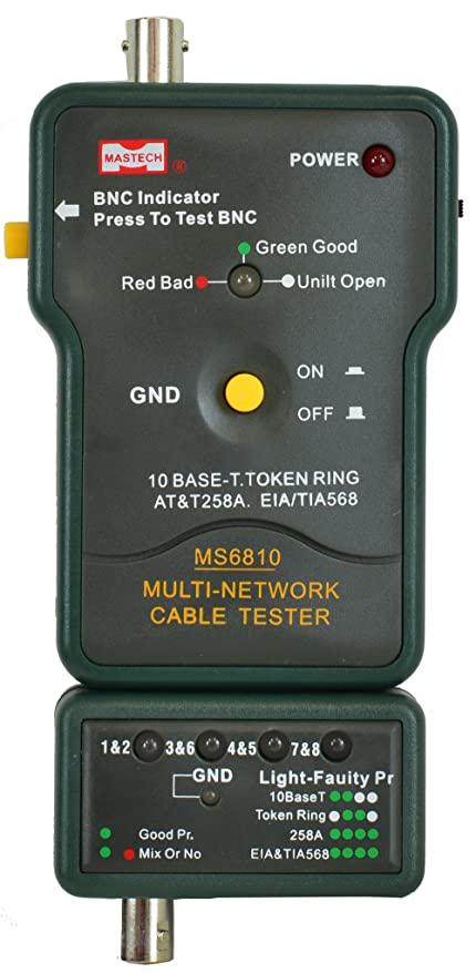 Amazon.com: Sinometer Network Cable Tester, MS6810: Home Improvement