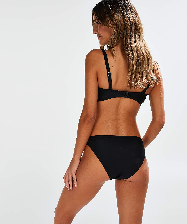 HUNKEM/ÖLLER Femme Haut de Bikini sans Bretelles /à Armatures Macrame