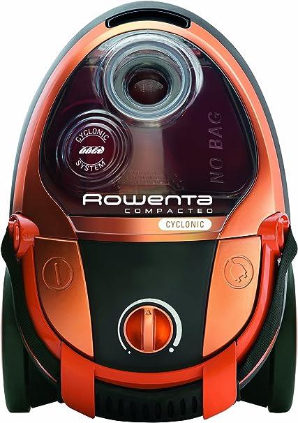 Rowenta - Aspirador Sin Bolsa Ro346301 Compacteo Cyclonic, 1900W, Fitro Hepa, Succion 29 KpaS, Deposito 1L, Parquet, Bandolera Integrada. Naranja.: Amazon.es: Hogar
