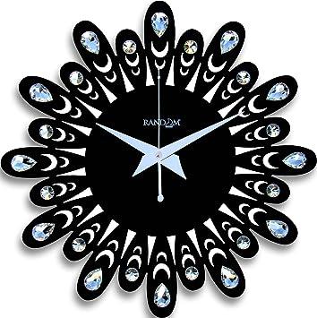Buy Random Clocks Jewel Floral Round Wood Wall Clock 30 cm x 30